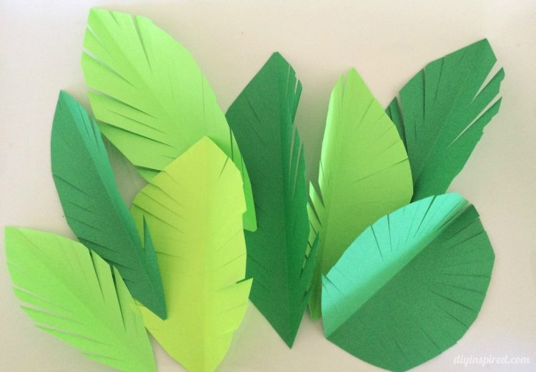 DIY Paper Leaves