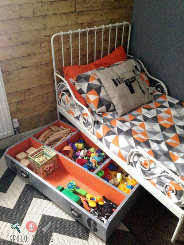 Drawer Turned Under the Bed Toy Storage