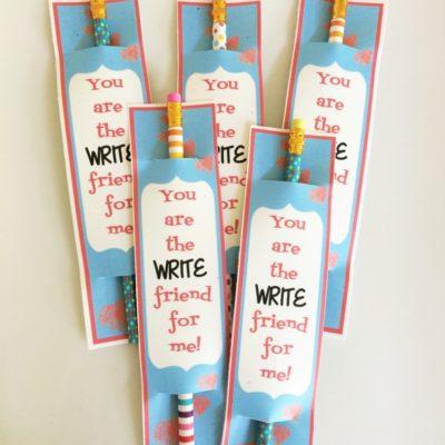 Pencil Valentine Printables
