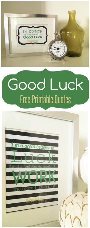 Good Luck Printable Quotes - DIY Inspired