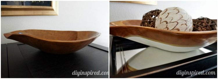 Hand Painted Wooden Bowl Knockoff