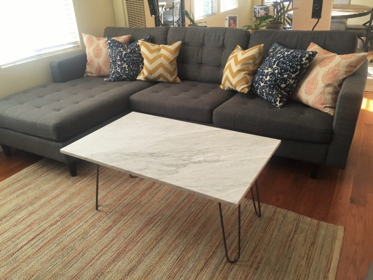DIY Upcycled Marble Coffee Table