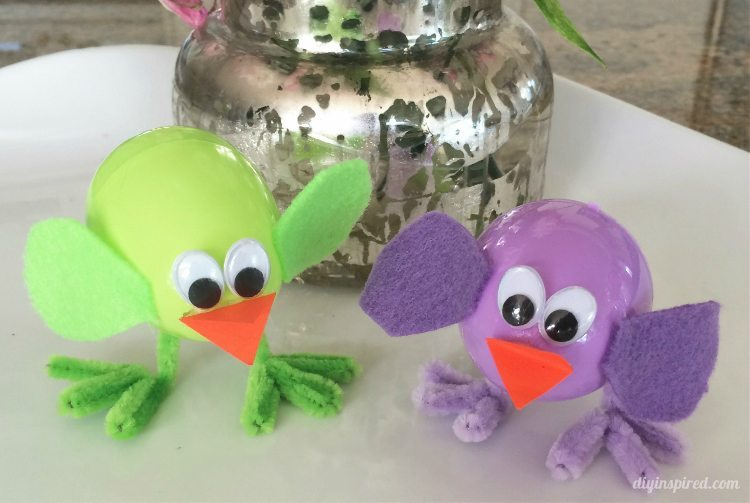 Plastic Easter Egg Chicks Craft for Kids