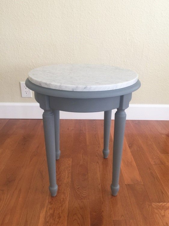 Side Table Makeover After