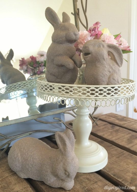Upcycled Easter Bunny Decor - DIY Inspired