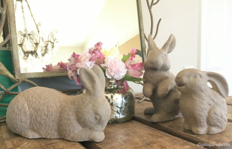 Upcycled Thrift Store Easter Bunny Décor
