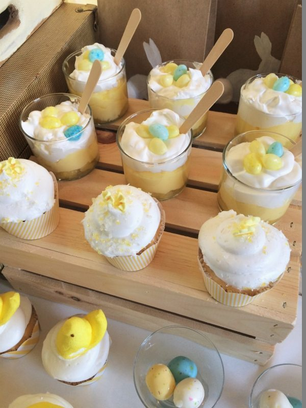 Easter Dessert Table Cupcakes