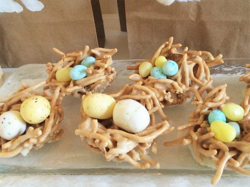 Easter Dessert Table Marshmallow Crispy