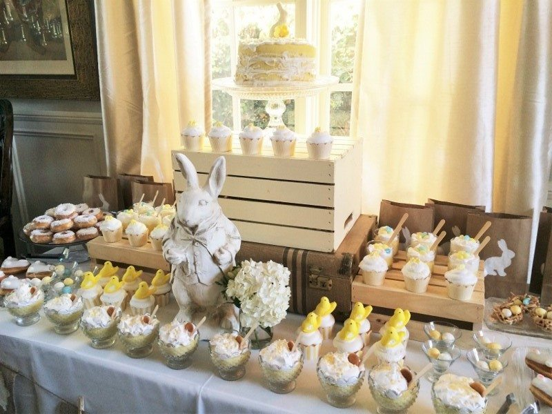 Easter Dessert Table Spread
