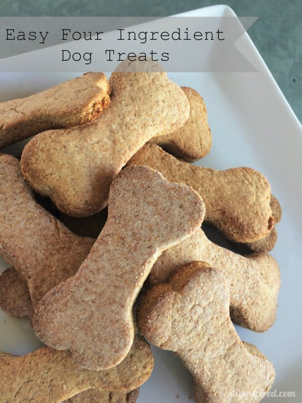 Easy Four Ingredient Dog Treats Recipe - DIY Inspired