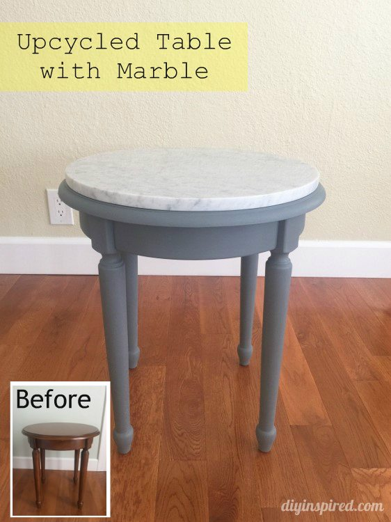 Upcycled Table with Marble - DIY Inspired