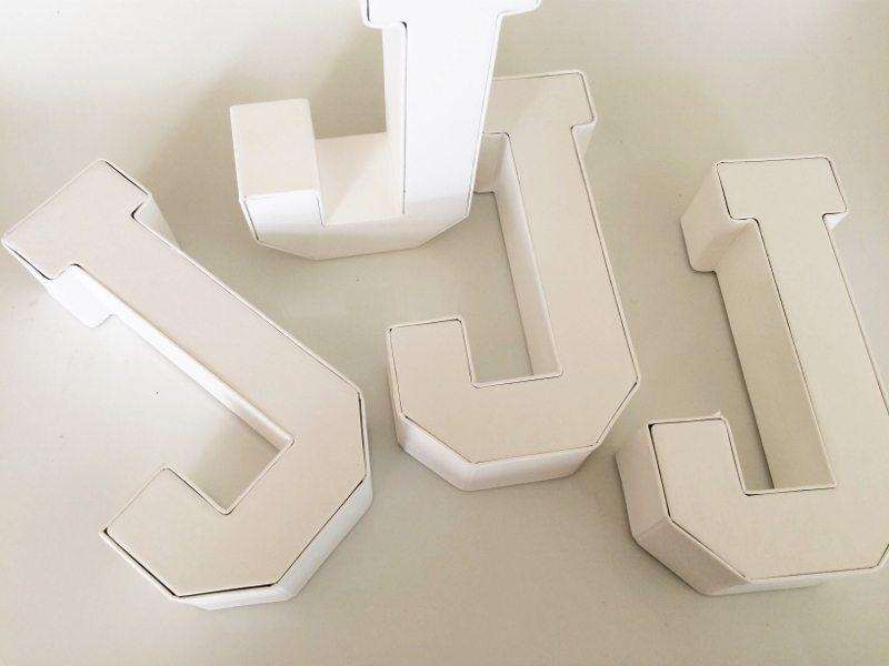 Cardboard Craft Letters