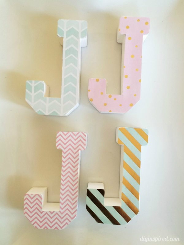 DIY Monogrammed Centerpiece Idea for a Shower or Birthday Party