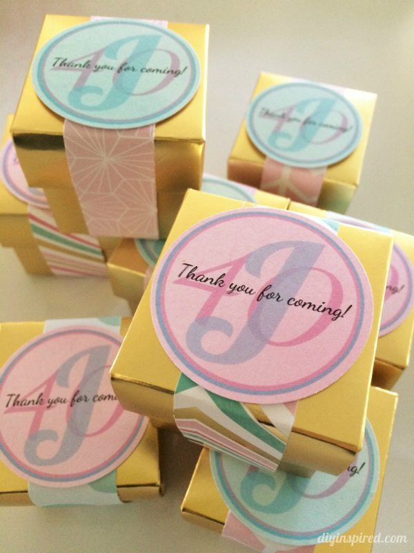 Gold and Pastel Party Favors - DIY Inspired