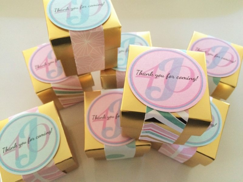 Gold and Pastel Party Favors
