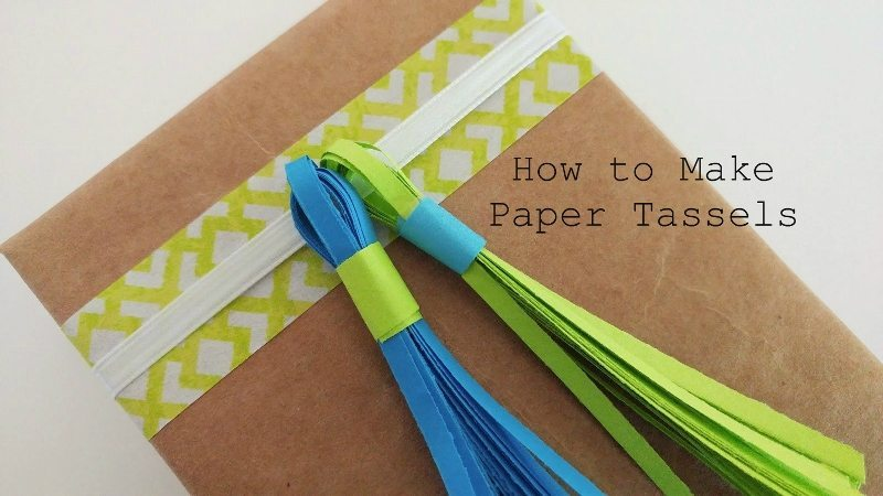How to Make Paper Tassels Video