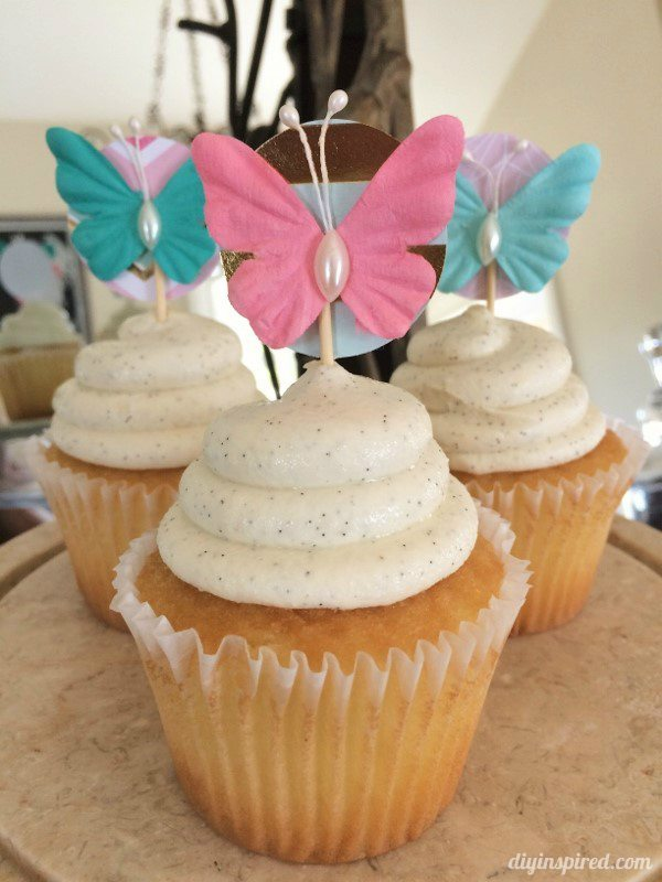 Last Minute Butterfly Cupcake Toppers DIY Inspired