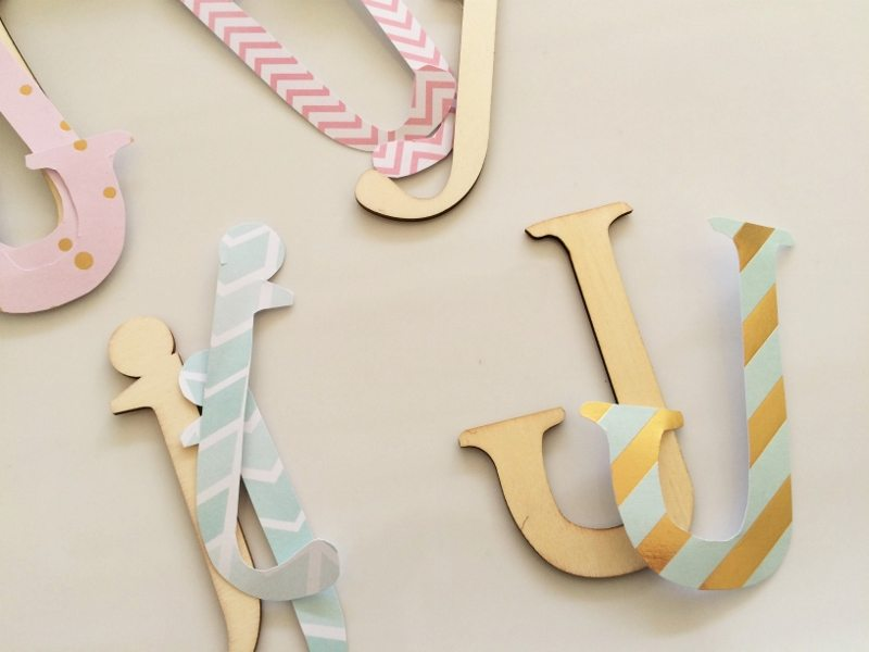 Mod Podge Wooden Letter DIY