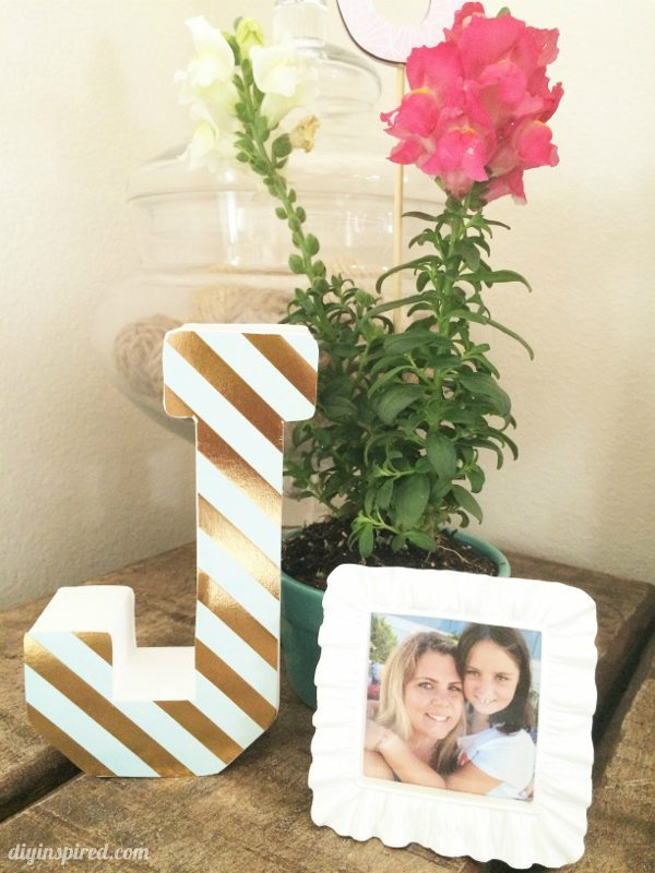 Monogrammed Birthday Party Centerpieces