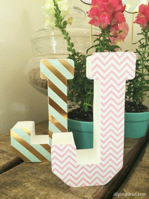 Monogrammed Centerpieces with Paper