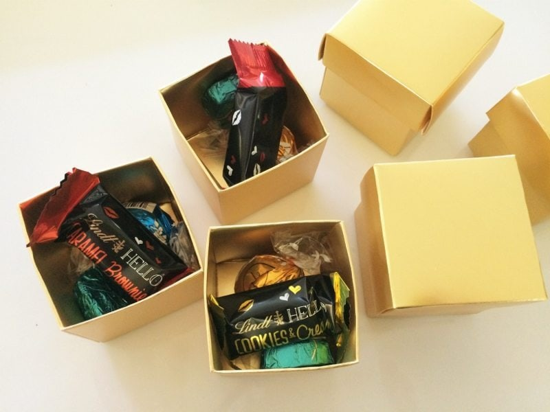 Party Favors with Chocolate