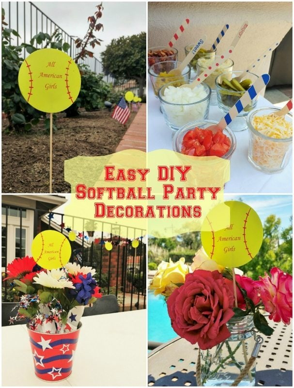 Easy DIY Softball Party Decorations - DIY Inspired