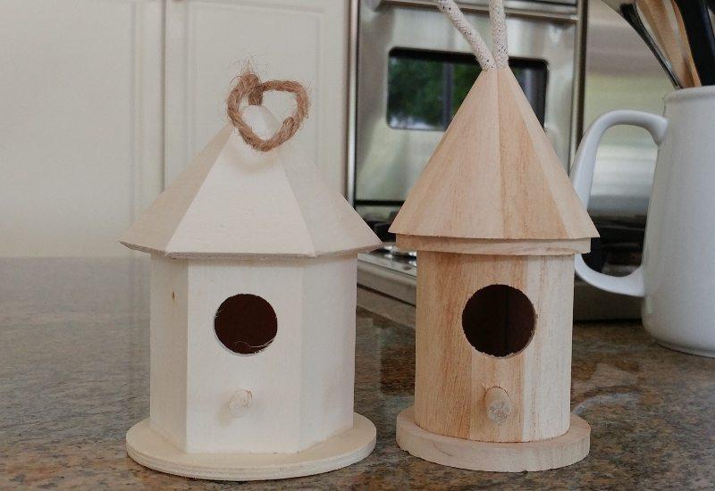 Fairy Garden from Wooden Bird Houses