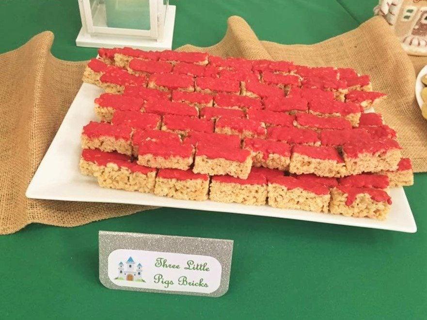 Fairytale Ball - 3 Little Pigs Red Bricks Rice Crispy Treats
