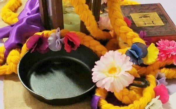 Fairytale Ball - Rapunzel Centerpiece with Pan