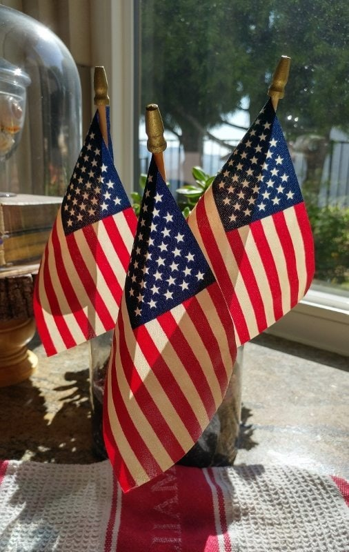 How to Tea Stain Flags Tutorial