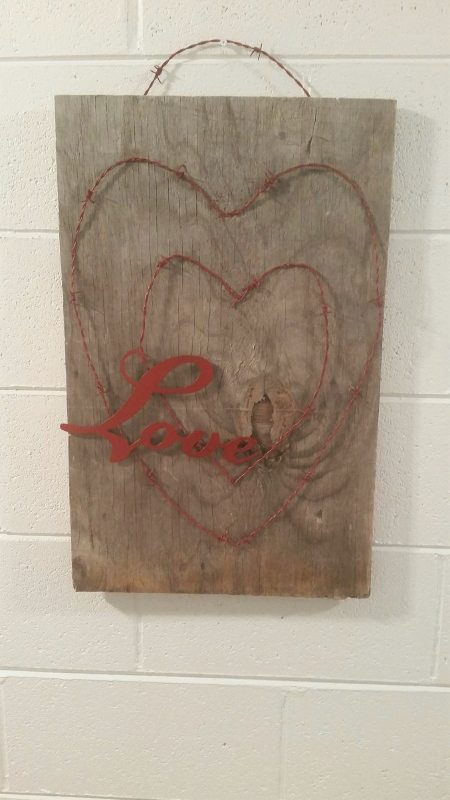 Repurposed Barbed Wire Heart Wall Art- DIY Inspired