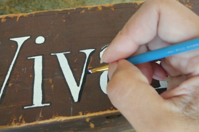 Stenciled Letters with Outline