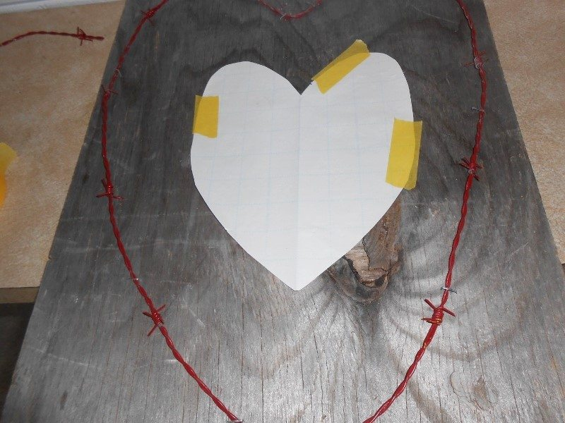 Trash to Treasure Upcycled Barbed Wire Heart