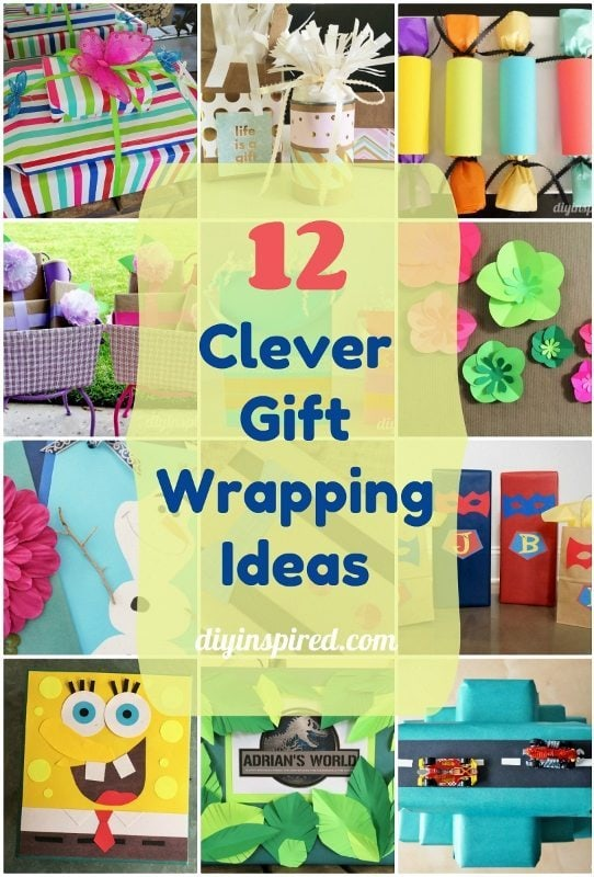 12 Clever Gift Wrapping Ideas- DIY Inspired