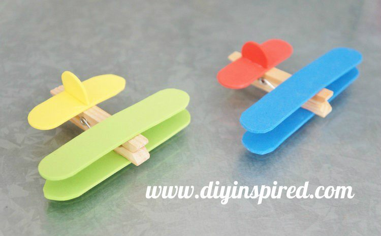 Airplane Clothespin Craft Video