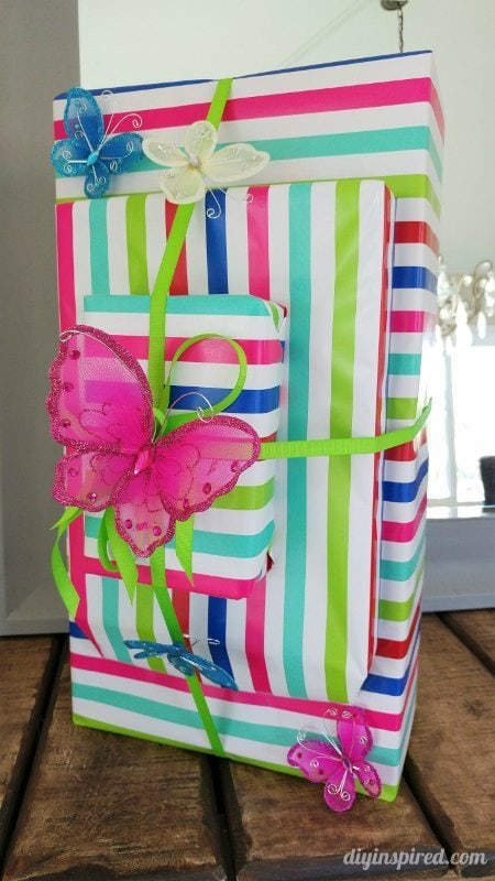 Butterfly Gift Wrapping Idea - DIY Inspired
