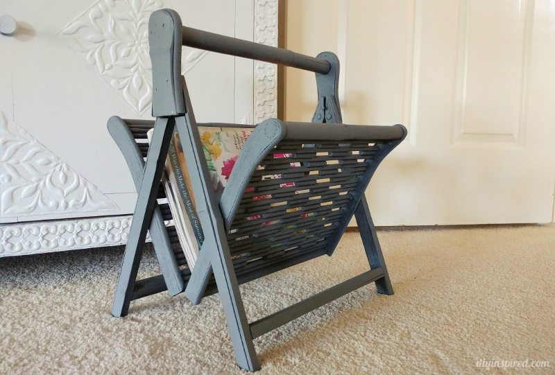Chalk Painted Magazine Rack