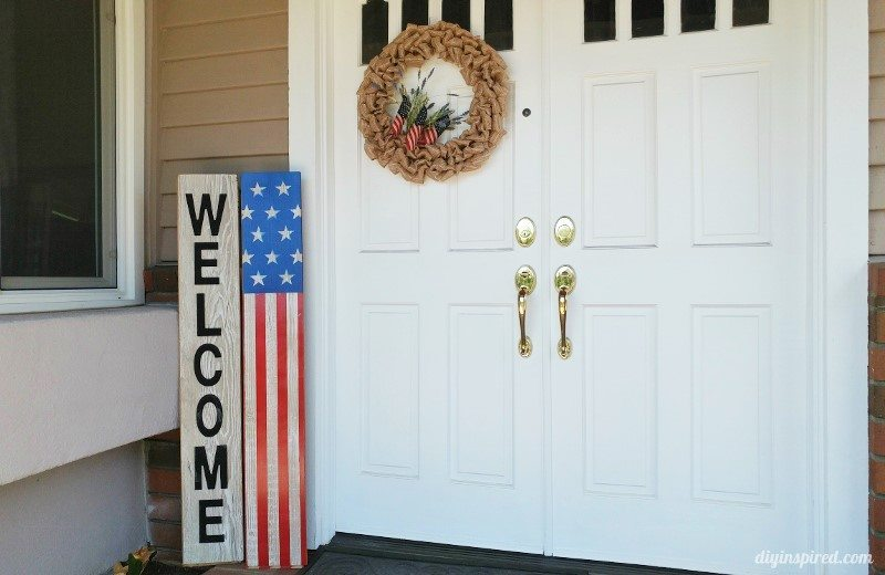 Fourth of July Front Door Decoration