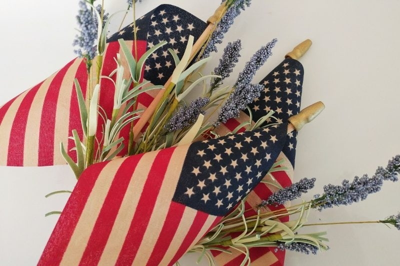 DIY Fourth of July Tea Stained Flags