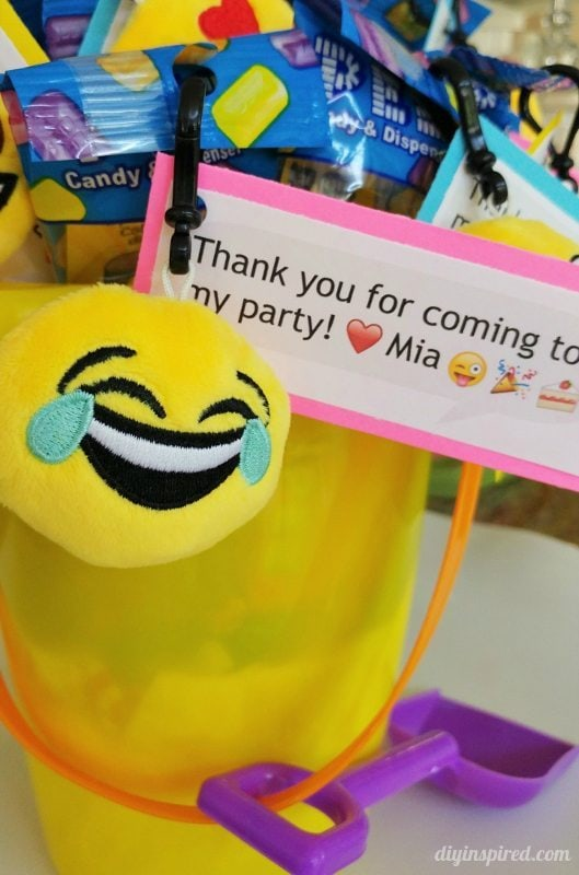 Emoji Birthday Party Favors Idea