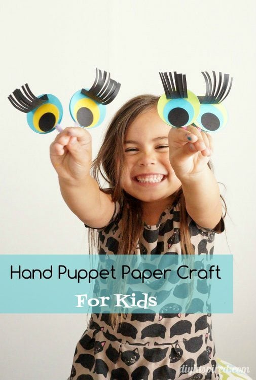 Hand Puppet Paper Craft for Kids