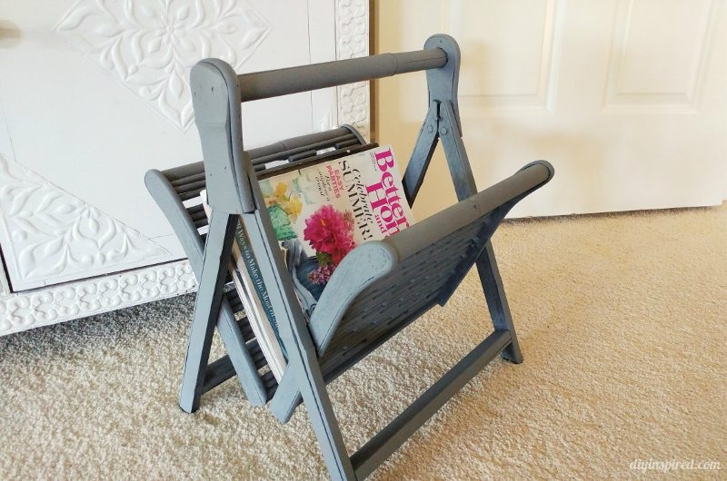 Thrift Store Magazine Rack Upcycle