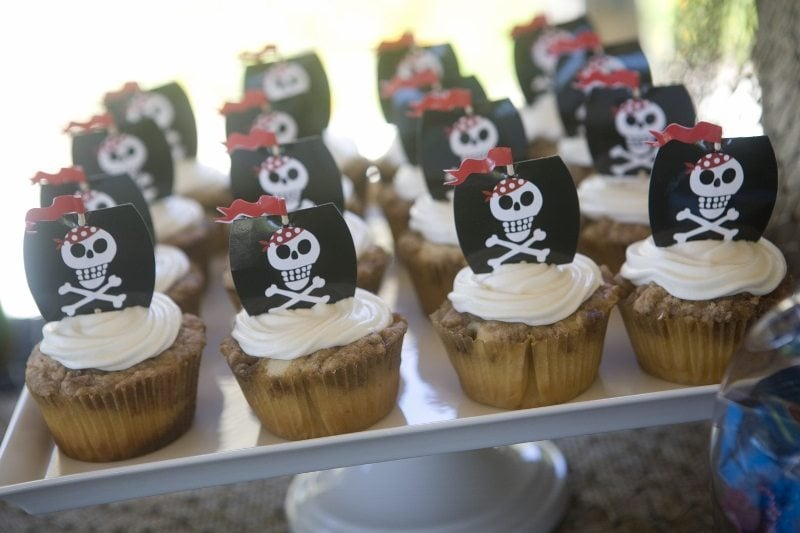 Pirate Party Ideas Cupcakes