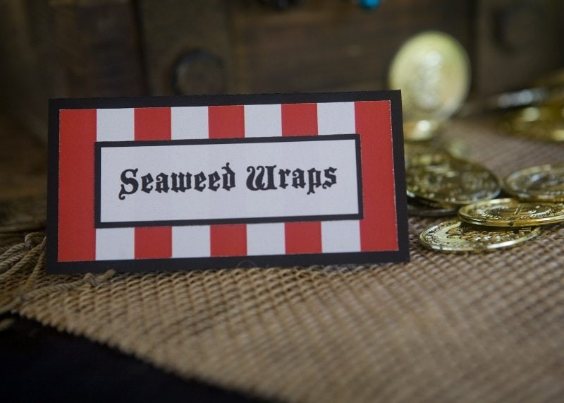 Pirate Party Ideas - Party Food Seaweed Wraps