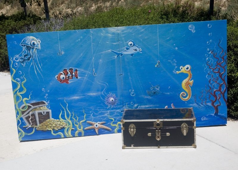 Pirate Party Ideas - Photo Backdrop - Under the Sea