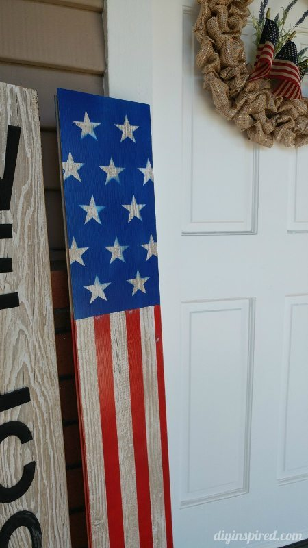 Repurposed Front Porch July 4th Decor