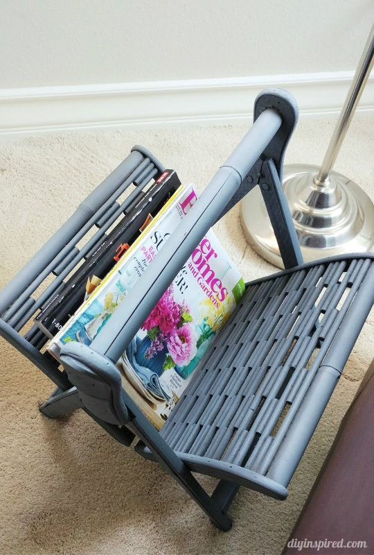 Spray Painted Magazine Rack - DIY Inspired
