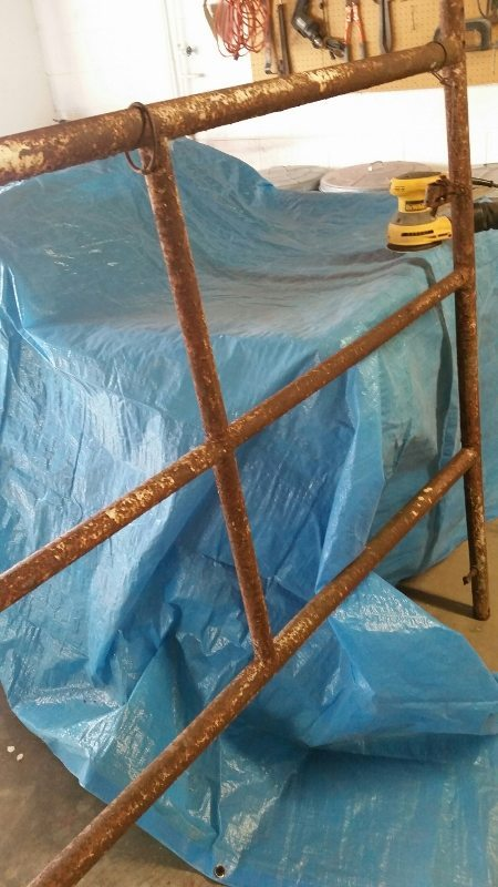 Trash to Treasure Garden - Rusted Scaffolding