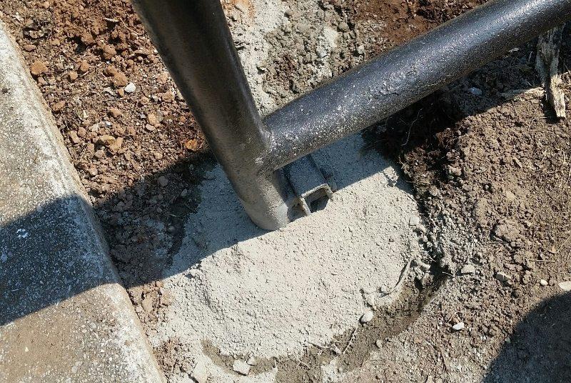 Trash to Treasure Garden - Scaffolding in Cement