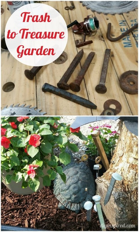 Trash to Treaure Garden Decor Ideas - DIY Inspired